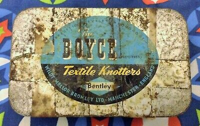 Fast Sale!! - The Boyce Textile Knotters Vintage Tin Wildt Antique Collectable