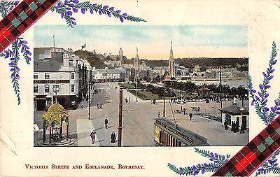 BR101671 victoria street and esplanade rothesay tramway  scotland