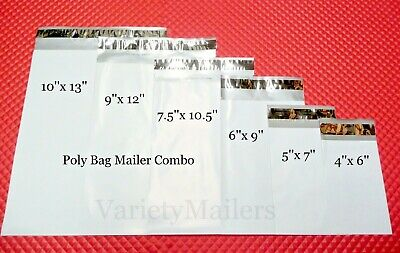 150 Poly Bag Envelope Mailer Variety Pack 25 Each Of 6 Sizes Shipping Bags