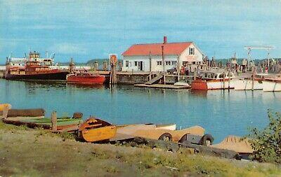 Streamline Ferry Terminal & Yacht Basin Boats Marina Burlington,VT Vtg Postcard