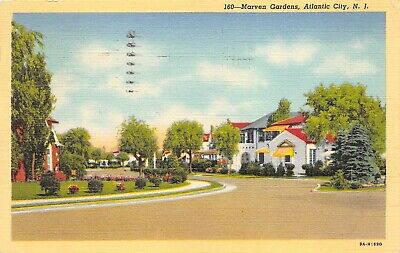 Atlantic City New Jersey 1948 Postcard Marven Gardens