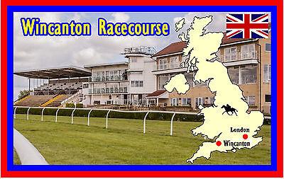 HORSE RACING (WINCANTON RACECOURSE) - FUN SOUVENIR NOVELTY FRIDGE MAGNET - GIFTS