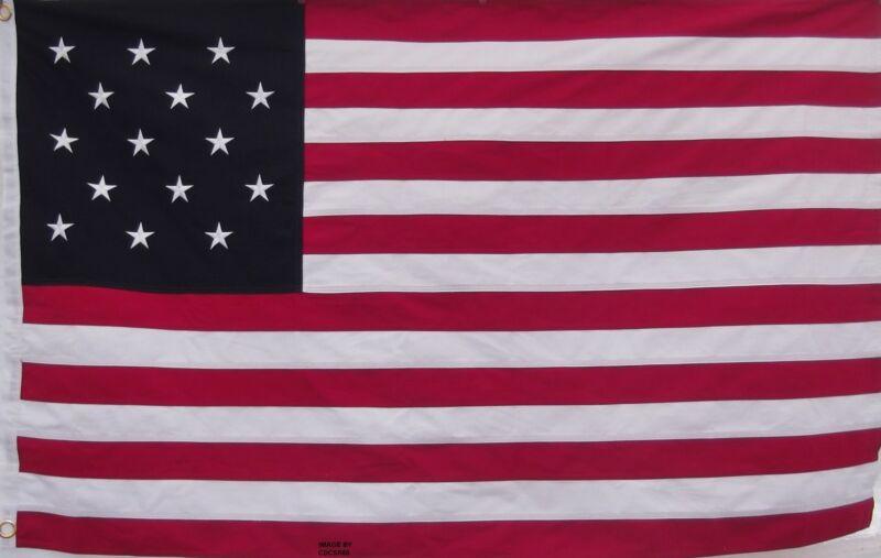 STAR SPANGLED BANNER FLAG - HEAVY DUTY COTTON 1812 WAR - USA HISTORICAL PATRIOT