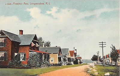 c.1910 Homes Prospect Ave. Longmeadow RI post card