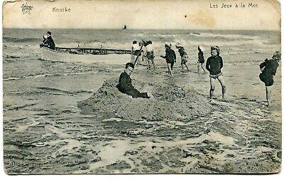 CPA - Carte Postale - Belgique - Knocke - Les Jeux à la Mer- 1911 (M8203)