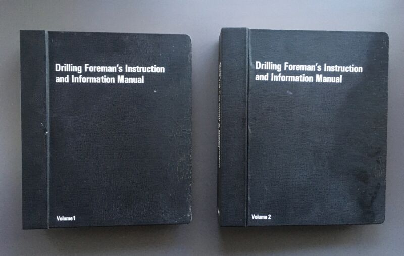Vintage 2 Volume Set Standard Oil Drilling Foreman