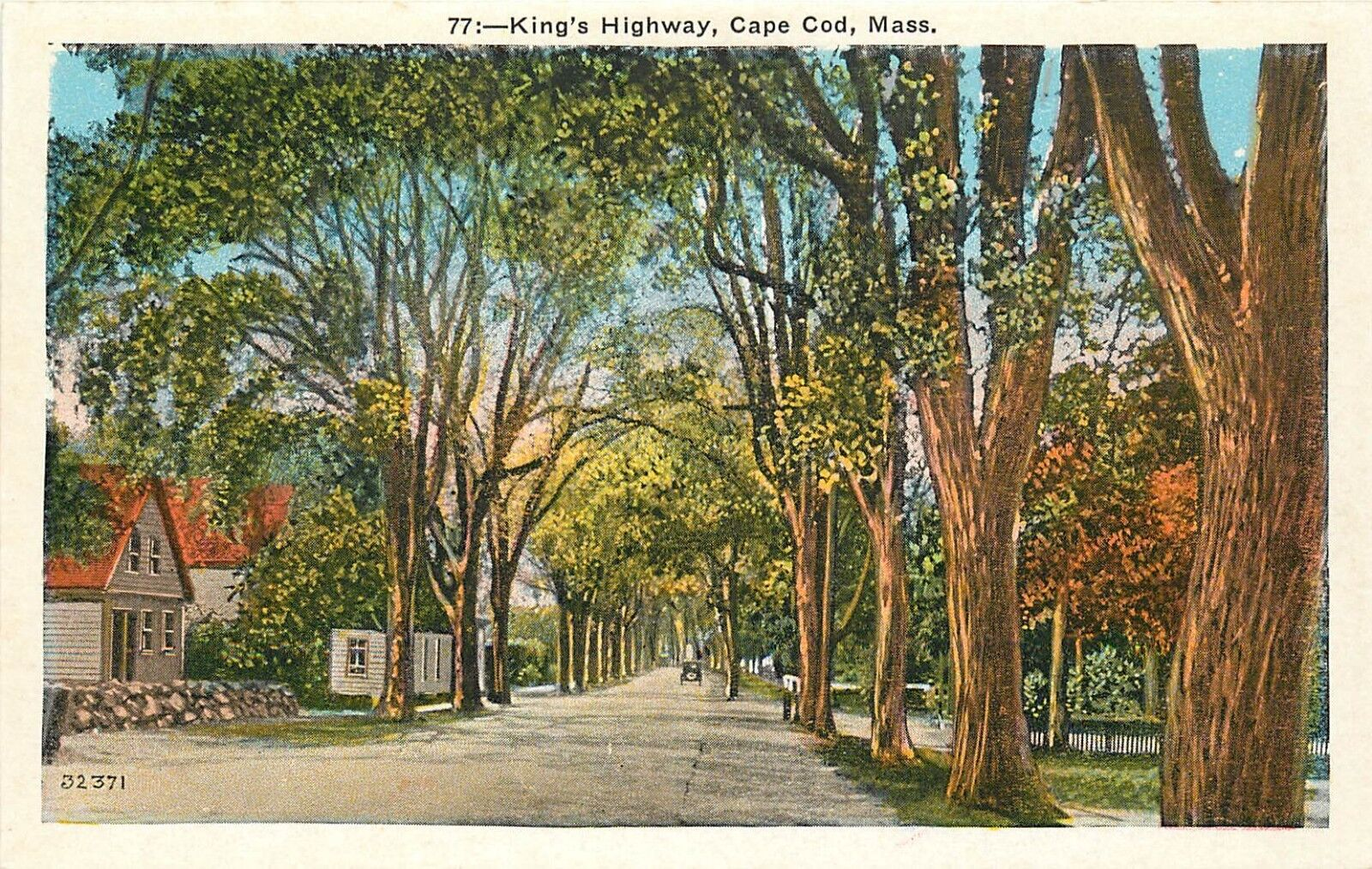 Excellent Details About Wb Postcard Ma Kings Highway Cape Cod Mass Tree Lined Street Cottages F463 Home Interior And Landscaping Spoatsignezvosmurscom