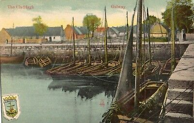 THE CLADDAGH GALWAY IRELAND MILTON IRISH POSTCARD
