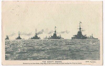The Mighty Armada PPC, 1914 Burton on Trent PMK, Singer Sewing Machines Advert