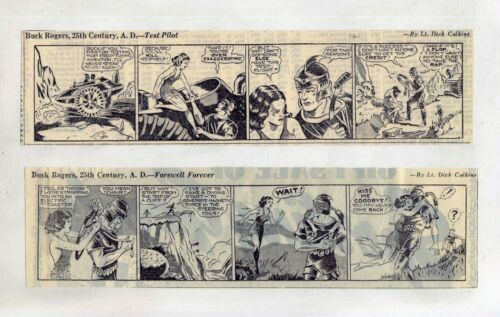 Buck Rogers by Dick Calkins - Sci-Fi - 8 daily comic strips from December 1939