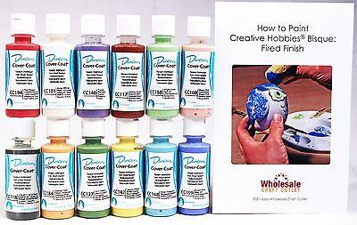 - Duncan CCKIT-1 Cover-Coat Opaque Underglaze Paint Set, 12 Popular Colors - 2 oz