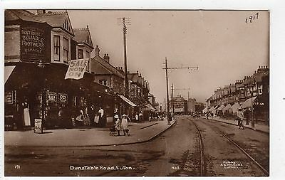 DUNSTABLE ROAD, LUTON: Bedfordshire postcard (C6829).