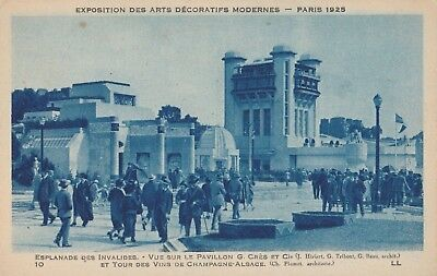 1925 Paris Exposition des Arts Decoratifs Postcard Art Deco Esplanade Invalides