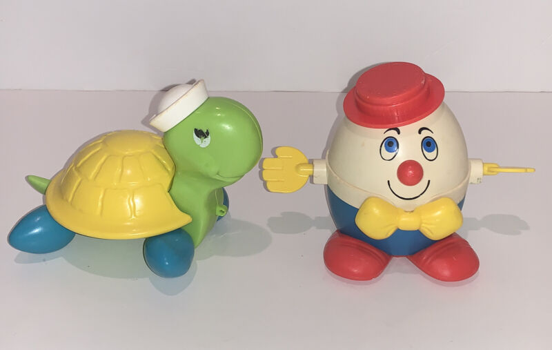 Vintage Fisher Price 1977 TAG ALONG TURTLE & 1960
