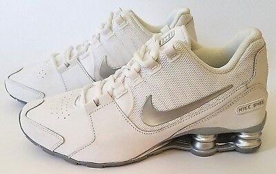 Nike Shox Avenue (GS) Shoes White Silver 848112-100 Youth Sz 4Y, 5Y, 6.5Y, 7Y