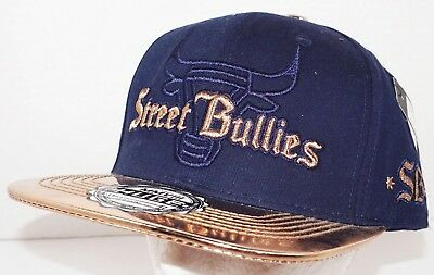 STREET BULLIES NAVY GOLD - ADULT SIZE CAP BY HAT HUGE CLOTHING CO NEW