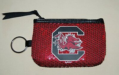 (New OFFICIAL South Carolina GAMECOCKS zippered coin purse with FREE SHIPPING !)