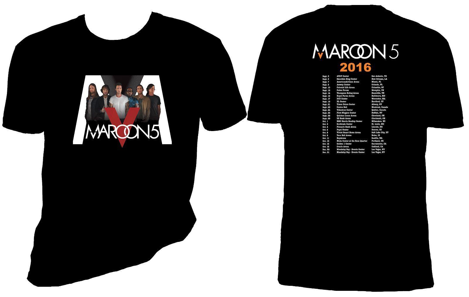 Maroon 5 T Shirt, Maroon 5 Concert T Shirt, Adam Levine, ...