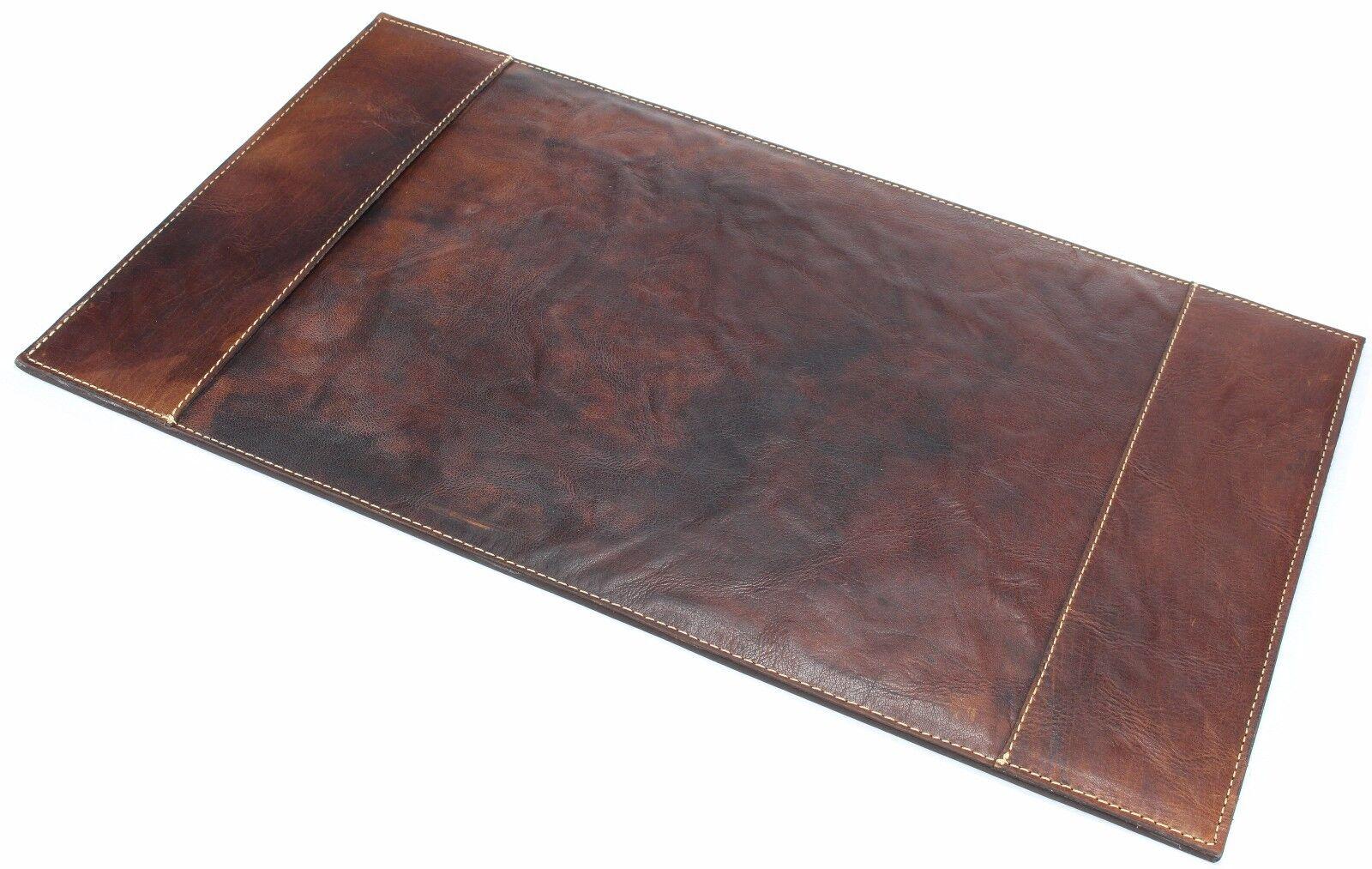 Schreibtischauflage Mousepad SET Leder recycelt  Schreibtischunterlage braun