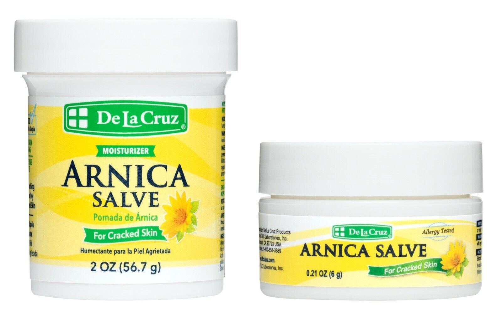 De La Cruz Arnica Salve 2 OZ.  + Travel Size Jar / Made in U