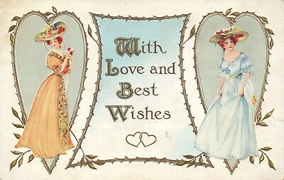 With Love and Best Wishes Woman Dressed Up Valentine (With Love And Best Wishes)