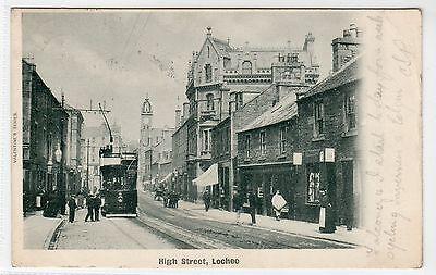 HIGH STREET, LOCHEE: Angus postcard (C11805)
