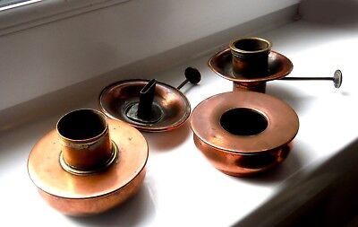 COLLECTION GEORGIAN/VICTORIAN COPPER BURNERS/PARTS   %
