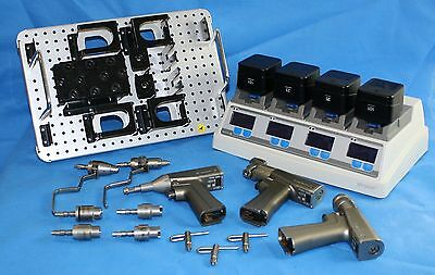 Stryker System 6 Set With Batteries System 6 Charger And Sterilization Tray
