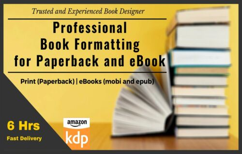 I will typeset, layout, format interior your book or novel for print publish