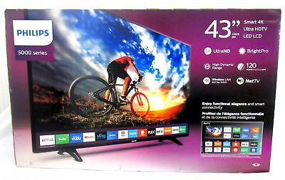 """Philips 5000 43"""" Smart 4K UHDTV LED LCD-N.O"""