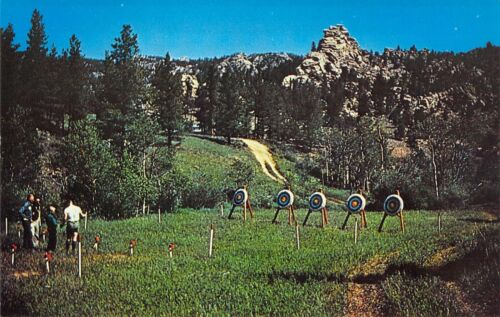 CO Red Feather Lakes DELATOUR Archery CAMP BOY SCOUTS OF AMERICA postcard BS3