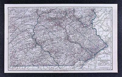 c1930 Hammond Railroad Map SW Pennsylvania Philadelphia Reading Harrisburg PA RR
