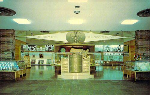 NJ New Brunswick JOHNSTON Museum SYMBOLS of BOY SCOUTS OF AMERICA  postcard
