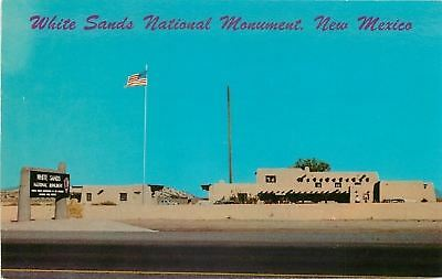 White Sands National Monument New Mexico Administration Bldg 1968 Postcard