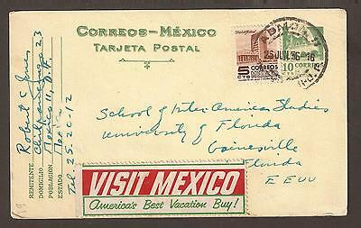 "Mexico 1956. Postcard with ""Visit mexico"" cinderella"