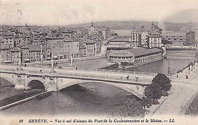 AK Genf Genève 1925 Brücke Stadtansicht