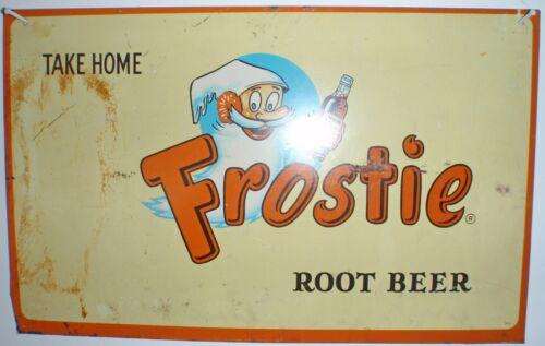 Frostie Root Beer Metal Tin Advertising Vintage Sign