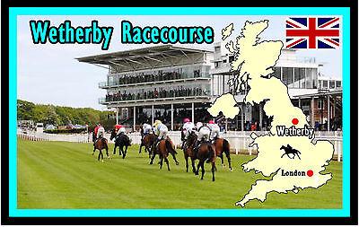 HORSE RACING (WETHERBY RACECOURSE) - FUN SOUVENIR NOVELTY FRIDGE MAGNET - GIFTS