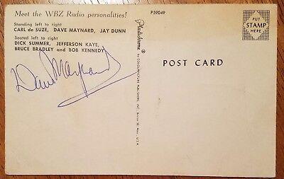 Dave Maynard Wbz Radio Personality Autograph Postcard Boston  Ma