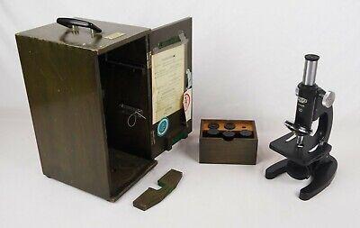 Vintage 1950s Olympus Tokyo Microscope 7x W Case Lenses
