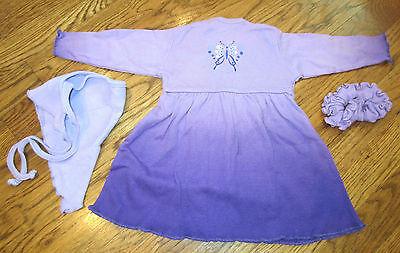 My Twinn Doll outfits clothing Purple Butterfly Jersey Knit Dress & Kerchief