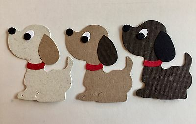 3 PUPPY DOGS.  EMBELLISHMENTS. CARDS. SCRAPBOOK PAGES. PETS. LOVE. WARMTH.