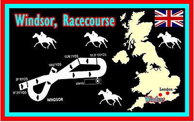 HORSE RACING (WINDSOR RACECOURSE) - SOUVENIR NOVELTY FRIDGE MAGNET - GIFTS