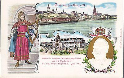 DR PP27 C31 Privat-Ganzsache GA GSK Maennergesangsverein Wilhelm 1903 Frankfurt