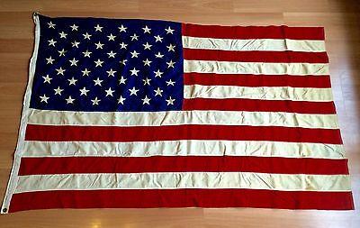 Old Vtg 50 Star Usa Americana Stars And Stripes 4 X 6 Ft Patriotic Capital Flag