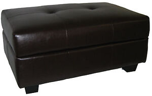 Storage Bench and Ottoman Microfiber Suede Choose Color