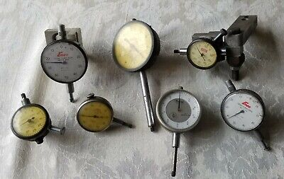 Dial Indicator Lot Of 7. Enco Lufkin Federal Ames Central