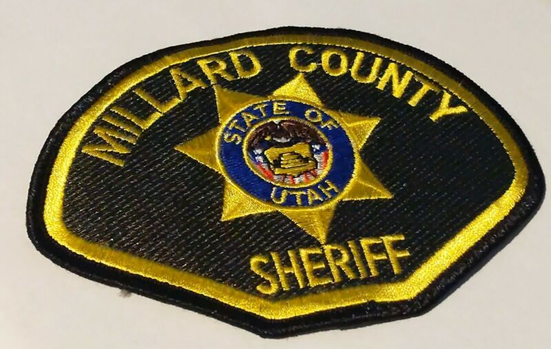 MILLARD Sheriff County UTAH  Shoulder Patch Emblem POLICE