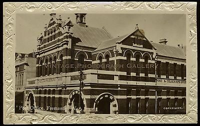 Antique Real Photo Postcard RPPC Post Office Fremantle WA Western Australia