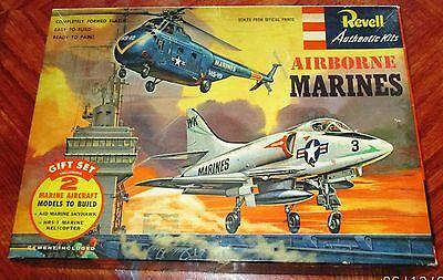 VINTAGE [1956] REVELL  AIRBORNE MARINES [A4D SKYHAWK & SIKORSKY HRS-1] w BONUS!